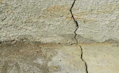 Concrete Foundation Crack
