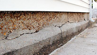 Cracked Foundation in Manitou Beach