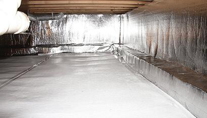Crawl Space Encapsulation Sealing