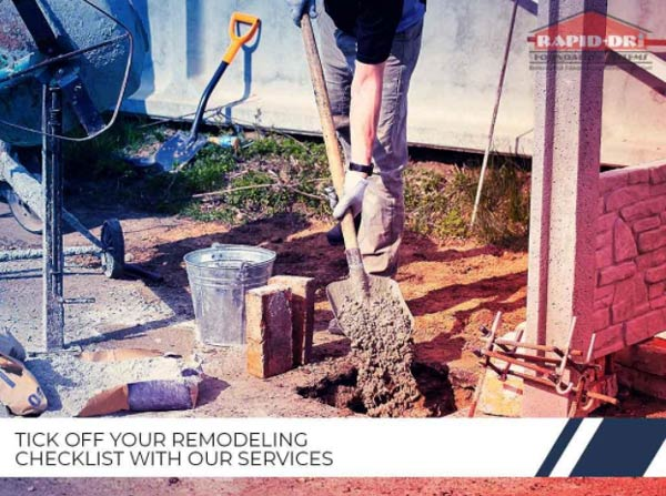 TICK OFF YOUR REMODELING CHECKLIST WITH OUR SERVICES